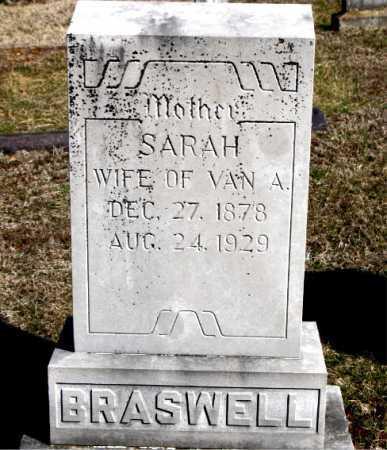 BRASWELL, SARAH - Carroll County, Arkansas | SARAH BRASWELL - Arkansas Gravestone Photos
