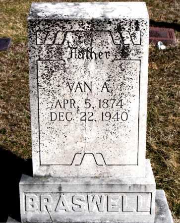 BRASWELL, VAN A - Carroll County, Arkansas   VAN A BRASWELL - Arkansas Gravestone Photos