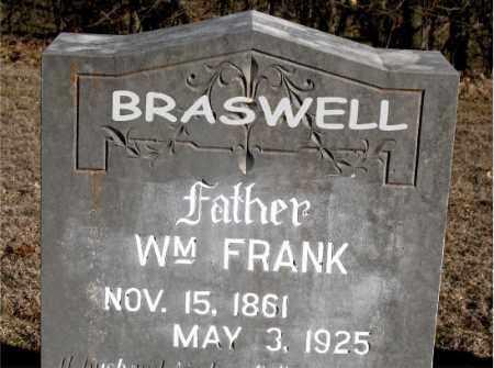 BRASWELL, WILLIAM FRANK - Carroll County, Arkansas | WILLIAM FRANK BRASWELL - Arkansas Gravestone Photos