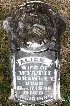 BRAWLEY, ALICE - Carroll County, Arkansas | ALICE BRAWLEY - Arkansas Gravestone Photos
