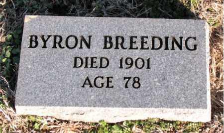 BREEDING, BYRON - Carroll County, Arkansas   BYRON BREEDING - Arkansas Gravestone Photos