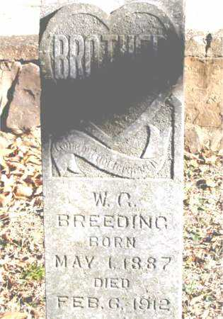 BREEDING, W.  C. - Carroll County, Arkansas | W.  C. BREEDING - Arkansas Gravestone Photos
