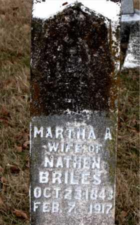 BRILES, MARTHA A. - Carroll County, Arkansas | MARTHA A. BRILES - Arkansas Gravestone Photos
