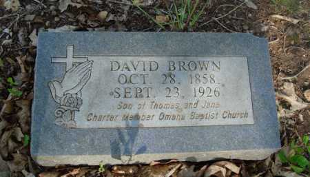 BROWN, DAVID - Carroll County, Arkansas | DAVID BROWN - Arkansas Gravestone Photos