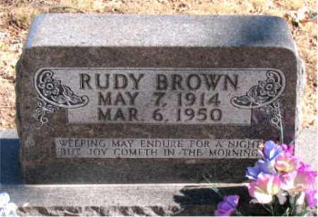 BROWN, RUDY - Carroll County, Arkansas   RUDY BROWN - Arkansas Gravestone Photos