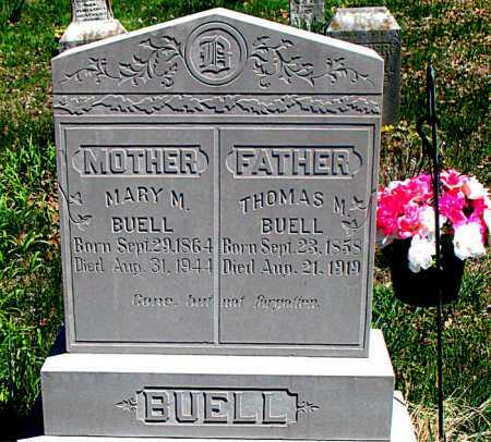 BUELL, MARY M. - Carroll County, Arkansas | MARY M. BUELL - Arkansas Gravestone Photos