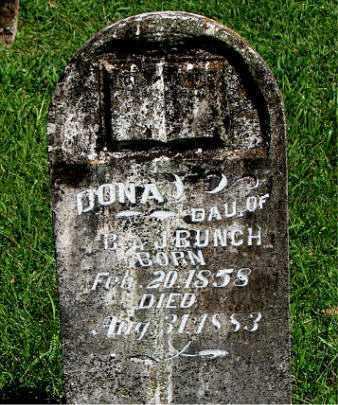 BUNCH, DONA - Carroll County, Arkansas   DONA BUNCH - Arkansas Gravestone Photos