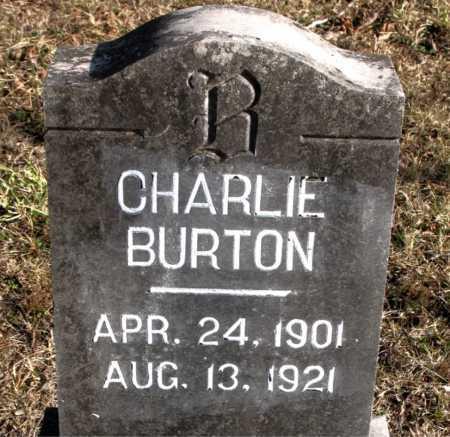 BURTON, CHARLIE - Carroll County, Arkansas   CHARLIE BURTON - Arkansas Gravestone Photos