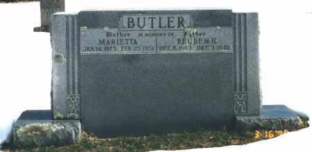 BUTLER, REUBEN H. - Carroll County, Arkansas | REUBEN H. BUTLER - Arkansas Gravestone Photos