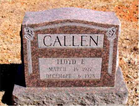 CALLEN, FLOYD  E. - Carroll County, Arkansas | FLOYD  E. CALLEN - Arkansas Gravestone Photos