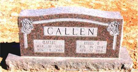 CALLEN, ELLIS  E. - Carroll County, Arkansas | ELLIS  E. CALLEN - Arkansas Gravestone Photos