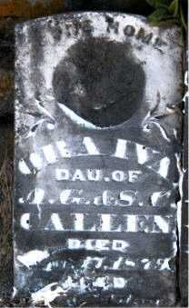 CALLEN, ORA IVA - Carroll County, Arkansas   ORA IVA CALLEN - Arkansas Gravestone Photos