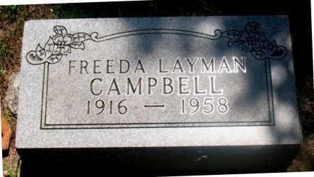 CAMPBELL, FREEDA - Carroll County, Arkansas | FREEDA CAMPBELL - Arkansas Gravestone Photos