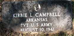 CAMPBELL (VETERAN), KIRBIE L - Carroll County, Arkansas   KIRBIE L CAMPBELL (VETERAN) - Arkansas Gravestone Photos