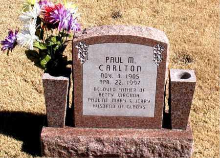 CARLTON, PAUL  M. - Carroll County, Arkansas   PAUL  M. CARLTON - Arkansas Gravestone Photos