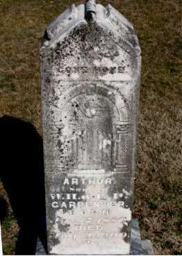 CARPENTER, ARTHUR - Carroll County, Arkansas | ARTHUR CARPENTER - Arkansas Gravestone Photos