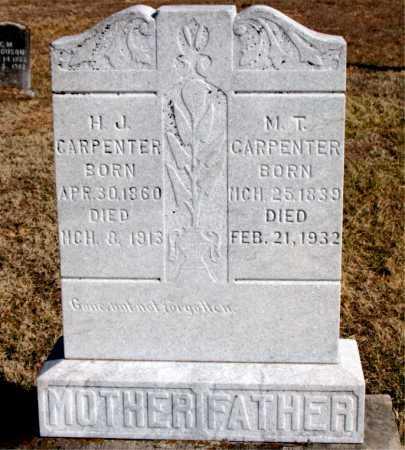 CARPENTER, M  T - Carroll County, Arkansas | M  T CARPENTER - Arkansas Gravestone Photos
