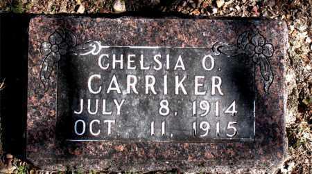 CARRIKER, CHELSIA O - Carroll County, Arkansas | CHELSIA O CARRIKER - Arkansas Gravestone Photos