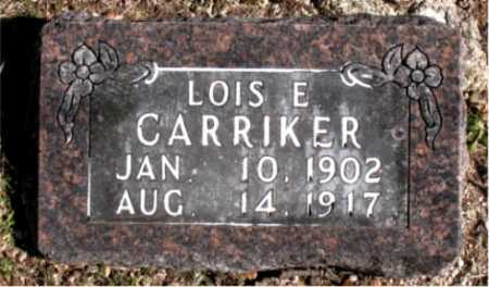 CARRIKER, LOIS E - Carroll County, Arkansas | LOIS E CARRIKER - Arkansas Gravestone Photos