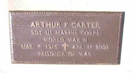 CARTER (VETERAN WWII, POW), ARNOLD F - Carroll County, Arkansas | ARNOLD F CARTER (VETERAN WWII, POW) - Arkansas Gravestone Photos