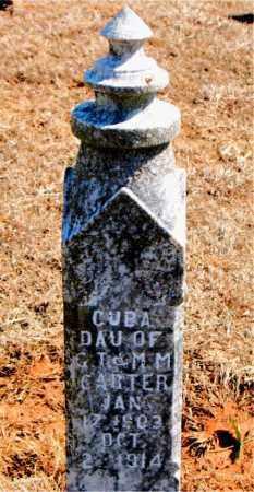 CARTER, CUBA - Carroll County, Arkansas | CUBA CARTER - Arkansas Gravestone Photos