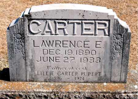 CARTER, LAWRENCE E. - Carroll County, Arkansas | LAWRENCE E. CARTER - Arkansas Gravestone Photos