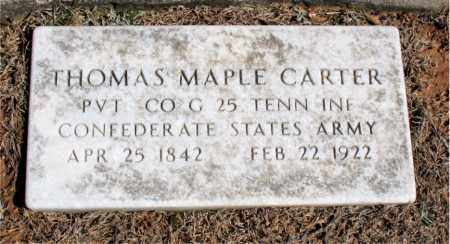 CARTER (VETERAN CSA), THOMAS MAPLE - Carroll County, Arkansas | THOMAS MAPLE CARTER (VETERAN CSA) - Arkansas Gravestone Photos