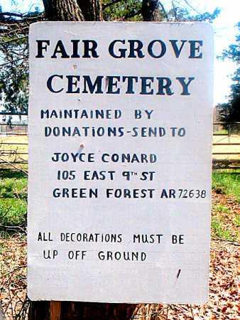 *FAIR GROVE CEMETERY SIGN,  - Carroll County, Arkansas |  *FAIR GROVE CEMETERY SIGN - Arkansas Gravestone Photos