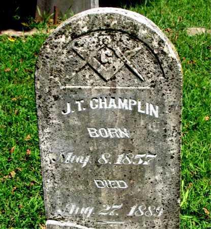 CHAMPLIN, J. T. - Carroll County, Arkansas | J. T. CHAMPLIN - Arkansas Gravestone Photos