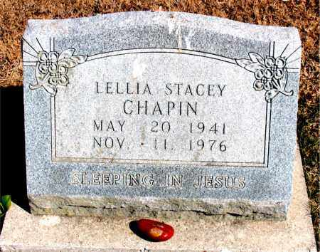 CHAPIN, LELLIA STACEY - Carroll County, Arkansas   LELLIA STACEY CHAPIN - Arkansas Gravestone Photos