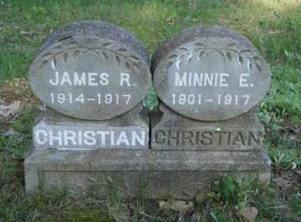 CHRISTIAN, MINNIE E. - Carroll County, Arkansas   MINNIE E. CHRISTIAN - Arkansas Gravestone Photos