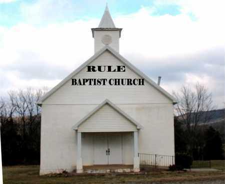 *RULE CHURCH,  - Carroll County, Arkansas    *RULE CHURCH - Arkansas Gravestone Photos