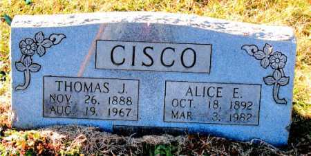 CISCO, THOMAS J. - Carroll County, Arkansas | THOMAS J. CISCO - Arkansas Gravestone Photos