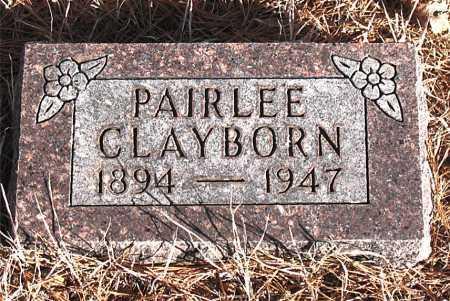 CLAYBORN, PAIRLEE - Carroll County, Arkansas   PAIRLEE CLAYBORN - Arkansas Gravestone Photos