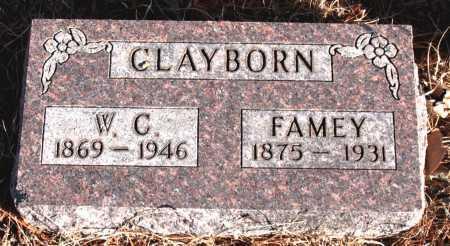 CLAYBORN, W.C. - Carroll County, Arkansas | W.C. CLAYBORN - Arkansas Gravestone Photos