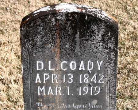 COADY, D  L - Carroll County, Arkansas | D  L COADY - Arkansas Gravestone Photos
