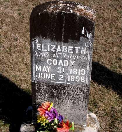COADY, ELIZABETH - Carroll County, Arkansas   ELIZABETH COADY - Arkansas Gravestone Photos