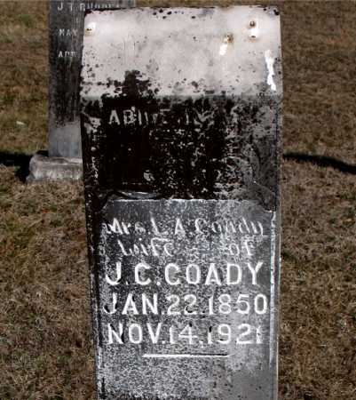 COADY, MRS. L  A - Carroll County, Arkansas | MRS. L  A COADY - Arkansas Gravestone Photos