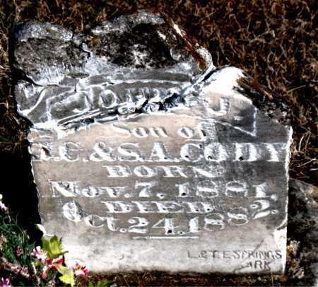 CODY, JOHN J. - Carroll County, Arkansas | JOHN J. CODY - Arkansas Gravestone Photos