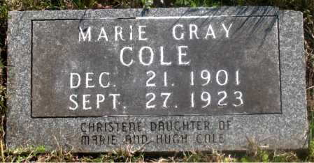 COLE, MARIE GRAY - Carroll County, Arkansas | MARIE GRAY COLE - Arkansas Gravestone Photos