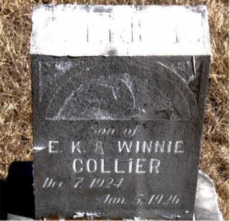 COLLIER, INFANT SON - Carroll County, Arkansas   INFANT SON COLLIER - Arkansas Gravestone Photos
