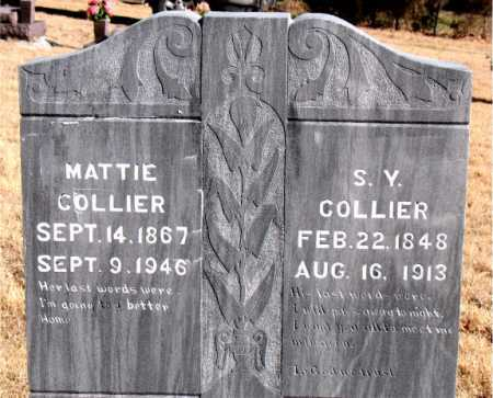 COLLIER, S.Y. - Carroll County, Arkansas | S.Y. COLLIER - Arkansas Gravestone Photos