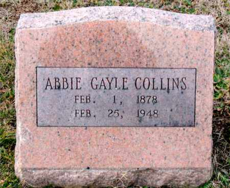 COLLINS, ABBIE GAYLE - Carroll County, Arkansas | ABBIE GAYLE COLLINS - Arkansas Gravestone Photos