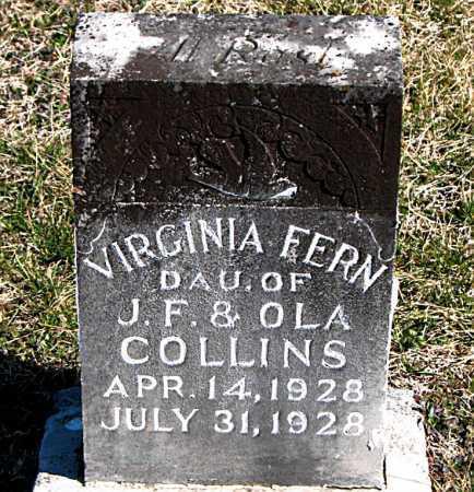 COLLINS, VIRGINIA FERN - Carroll County, Arkansas | VIRGINIA FERN COLLINS - Arkansas Gravestone Photos
