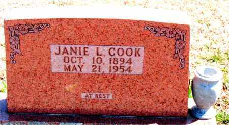 COOK, JANIE L. - Carroll County, Arkansas | JANIE L. COOK - Arkansas Gravestone Photos