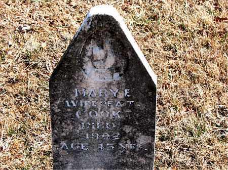 COOK, MARY E. - Carroll County, Arkansas   MARY E. COOK - Arkansas Gravestone Photos