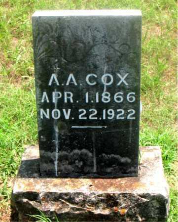 COX, A.A. - Carroll County, Arkansas   A.A. COX - Arkansas Gravestone Photos