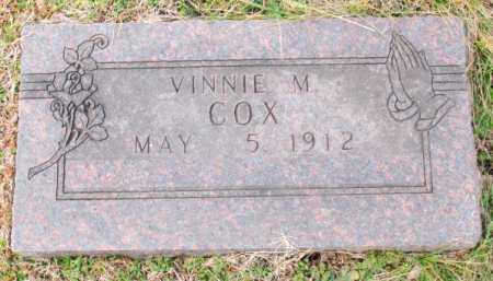 COX, VINNIE M. - Carroll County, Arkansas | VINNIE M. COX - Arkansas Gravestone Photos