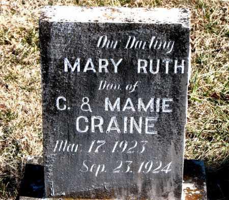 CRAINE, MARY RUTH - Carroll County, Arkansas   MARY RUTH CRAINE - Arkansas Gravestone Photos