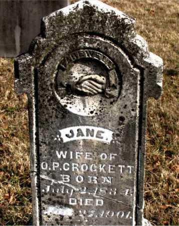 CROCKETT, JANE - Carroll County, Arkansas | JANE CROCKETT - Arkansas Gravestone Photos
